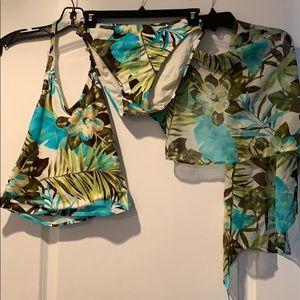 Anne Cole 3 pcs Halter Brief & Wrap Swimsuit